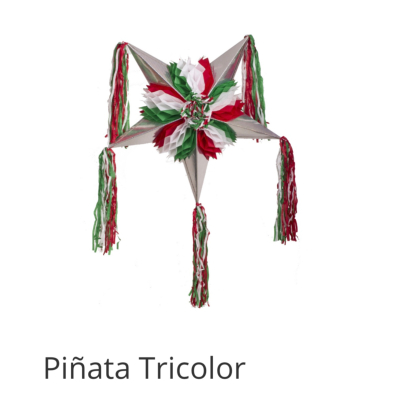 PIÑATA MEXICAINE PLIABLE TRICOLOR